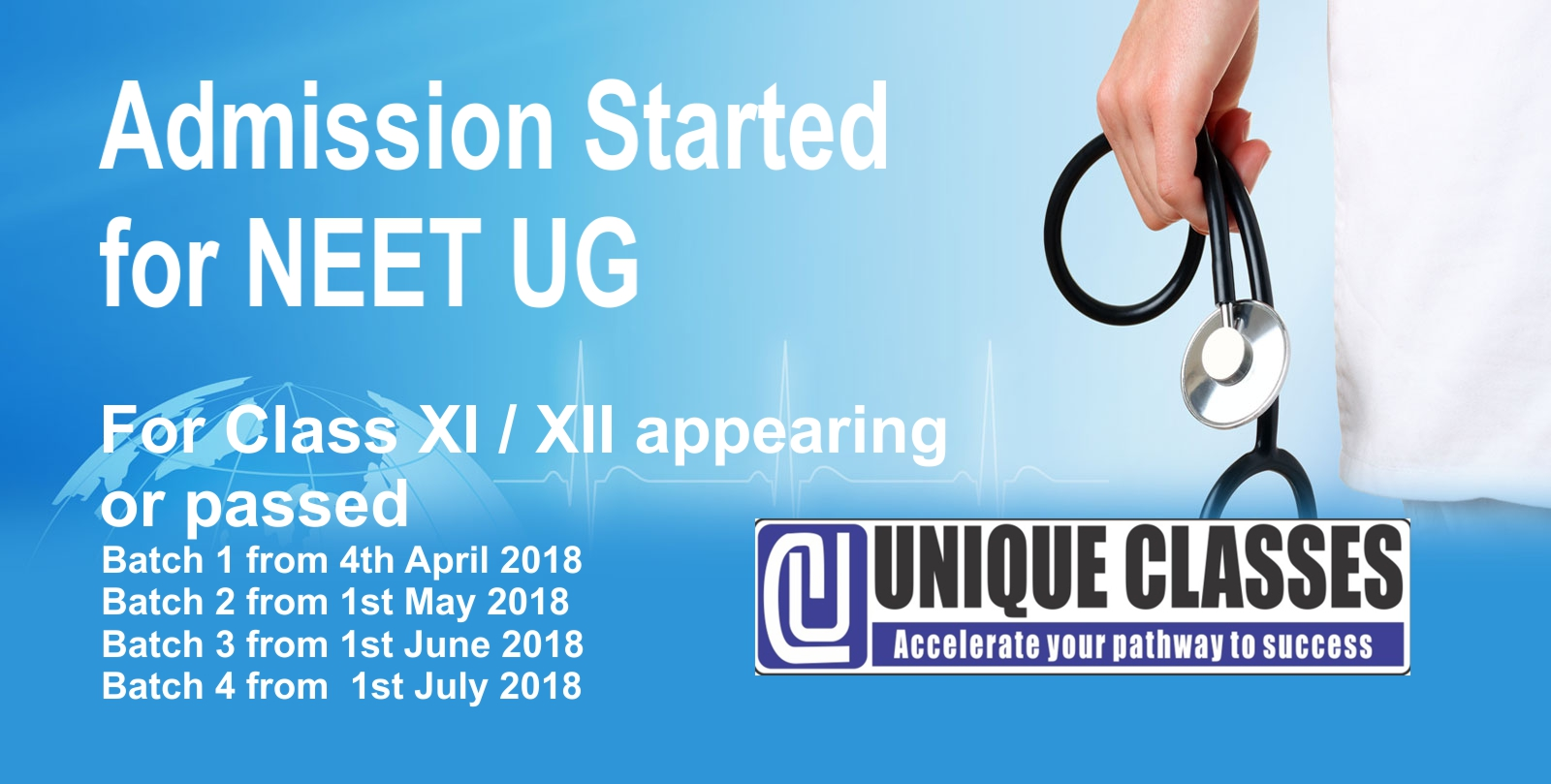 NEETUG admission at UNIQUECLASSES